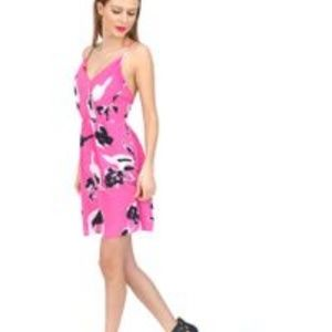 Yumi Kim Summer Getaway Pink and Black Dress